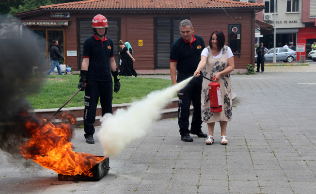 Büyükşehir'de yangın tatbikatı