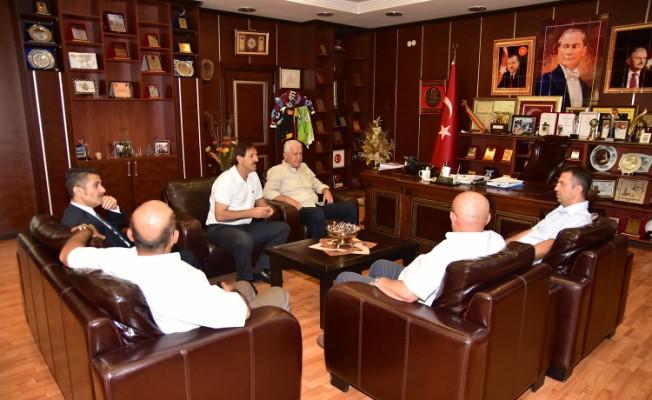 Kaymakam Gürçam'dan Belediye'ye Veda Ziyareti