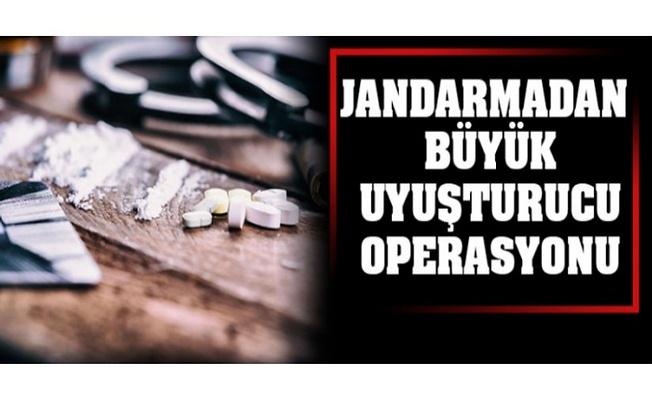 Jandarma'dan Büyük uyuşturucu operasyonu