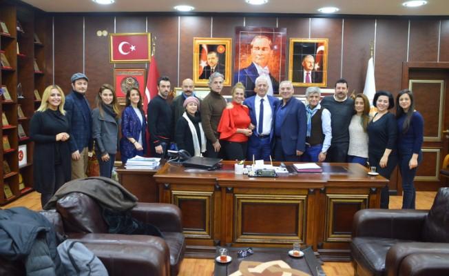 Çiğdem Tunç Tiyatro Topluluğundan İspiroğlu'na Ziyaret