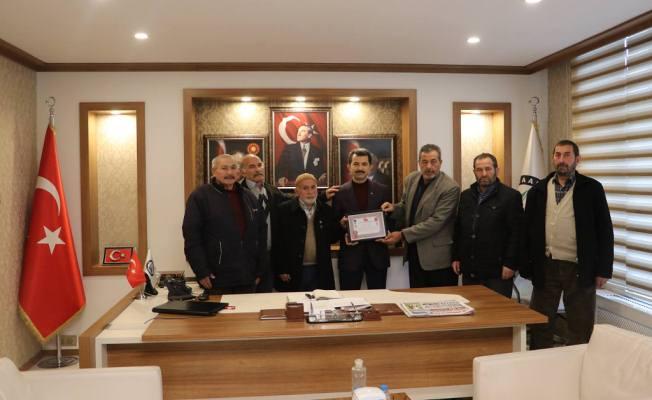 Gazilerimizden Başkan Acar'a ziyaret