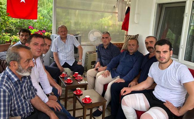 AK Partililer'den gaziyegeçmiş olsun ziyareti