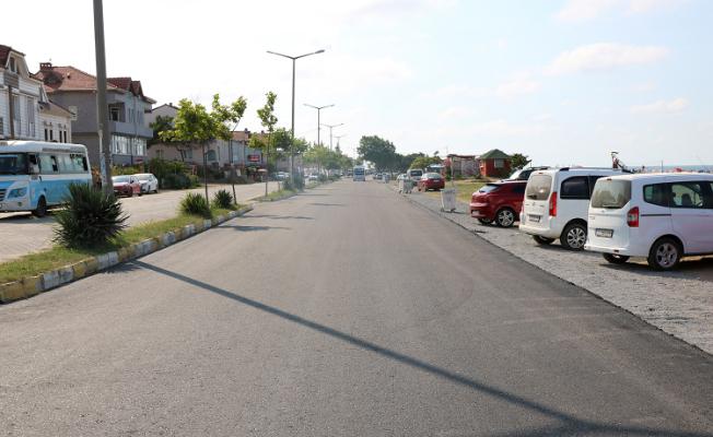 Karasu Doğu Karadeniz Caddesi yenilendi