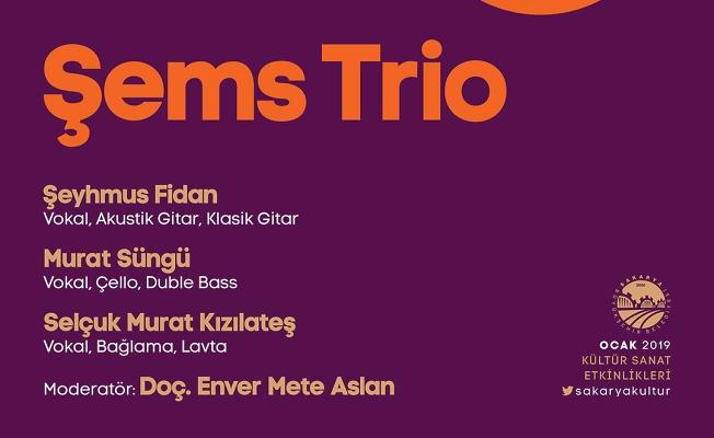 Şems Trio' Ziya Taşkent'te
