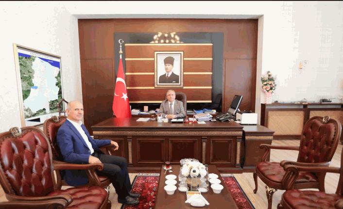 SASKİ Genel Müdürü Keleş'ten Vali Nayir'e Ziyaret