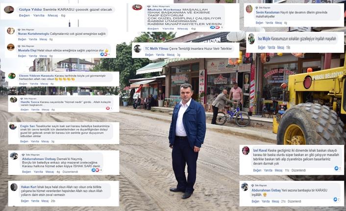Vatandaşın memnuniyeti sosyal medyaya yansıyor