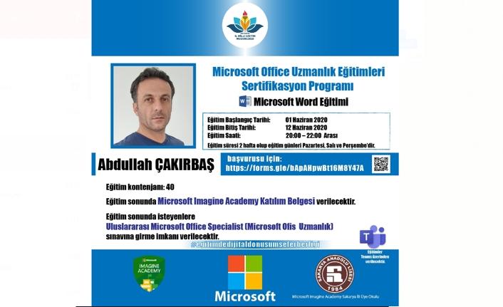 Sakarya MEM Microsoft Imagine Academy Eğitimleri ile Uluslararası Sertifikasyon İmkânı Sunuyor