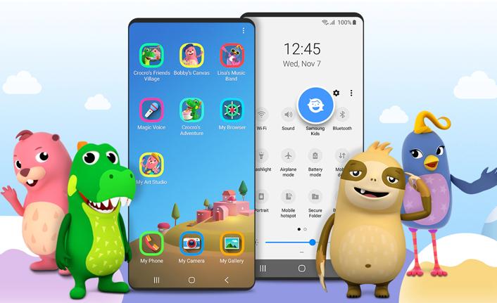 Samsung Kids arayüz uygulaması ile akıllı cihazlarda çocuklar için güvenli ortamlar!