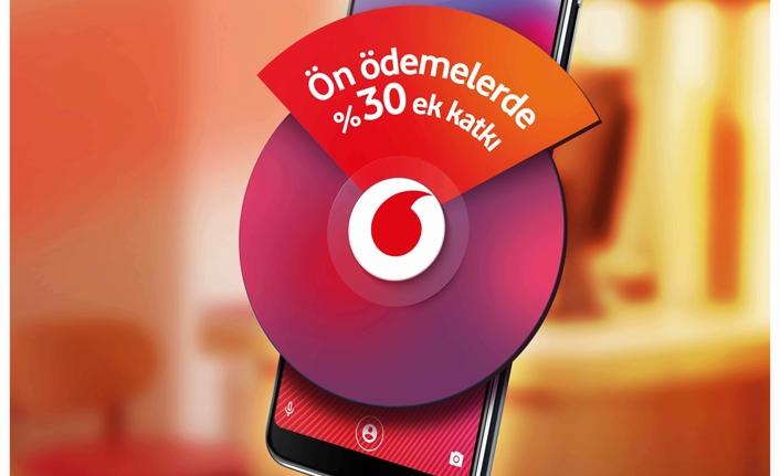 Vodafone'dan cihaz ön ödemelerinde %30 destek
