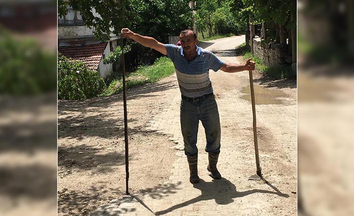 Taraklı'da öldürülen yaklaşık 2 metrelik yılan korkuttu