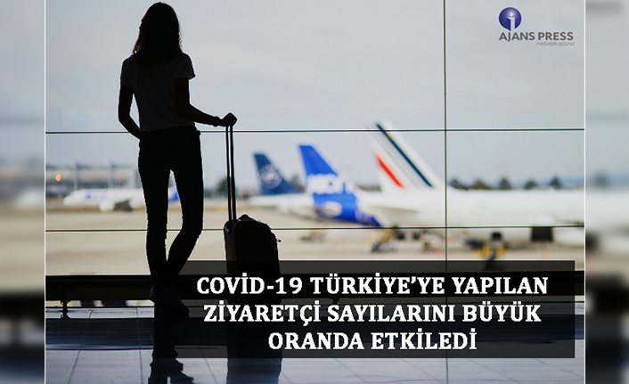 Covid-19 türkiye'ye yapılan ziyaretçi sayılarını büyük oranda etkiledi