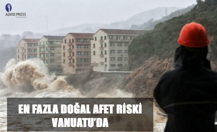En fazla doğal afet ri̇ski̇ vanuatu'da