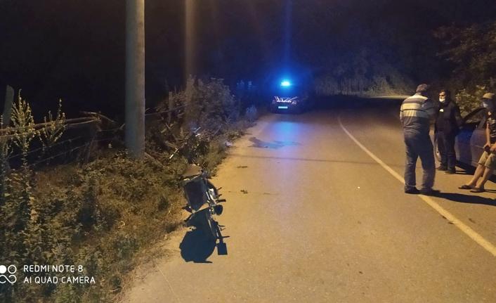 Motor kazası ölümle sonuçlandı!