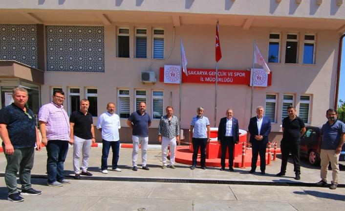 SASKF Yönetiminden Gençlik ve Spor İl Müdürü Arif Özsoy'a Ziyaret