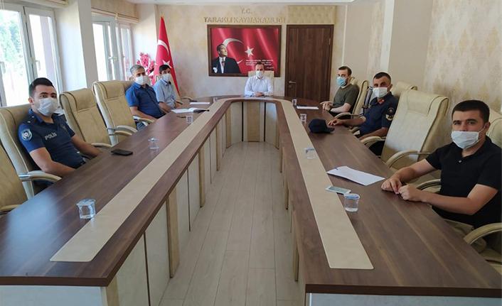 Taraklı'da İlçe Salgın Denetim Merkezi Toplantısı Yapıldı