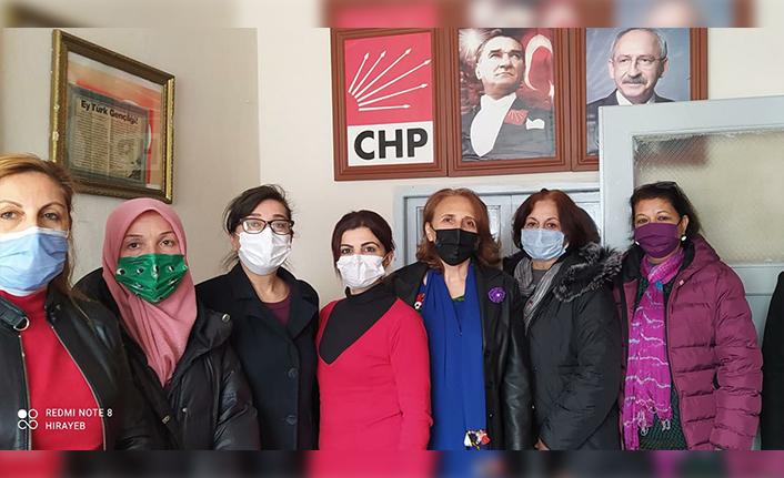 Chp taraklı ilçe kadın kolları toplandı