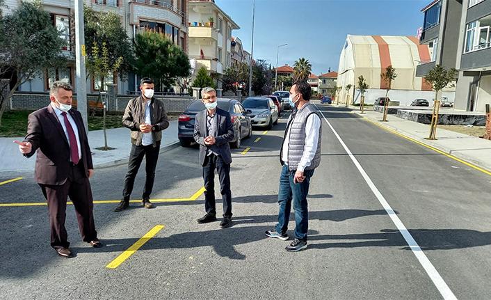 Karasu Belediyesinden Yol Çizgi Çalışması