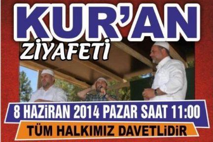 Adatepe köyünde Kur'an-ı Kerim Ziyafetine Davet