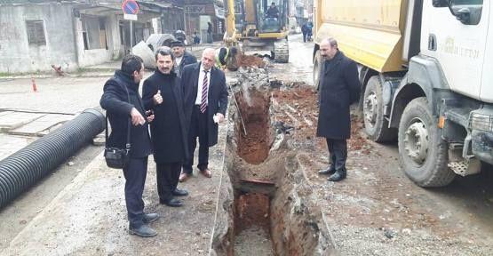 Başkan Acar Altyapı Çalışmalarını Denetledi