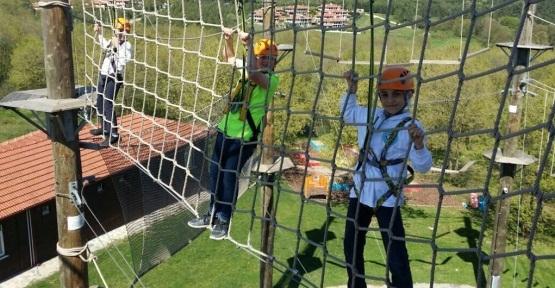 Minik öğrenciler Macera Park'ta