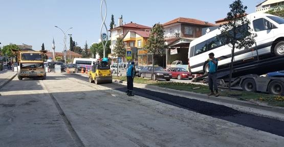 Orhangazi Caddesi'nde çalışmalar tamamlandı