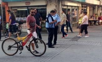 Çark Caddesi'nde 'Bisiklet' denetimi