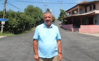 Karasu Kızılcık'ın asfaltı tamam