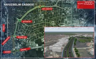 2 kilometrelik yeni bulvarın altyapısı tamam