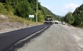 Sapanca Mahmudiye'de asfalt çalışması başladı