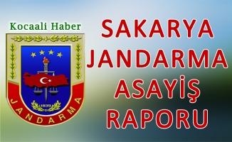 29 Eylül - 02 Ekim 2017 Sakarya il Jandarma Asayiş Raporu