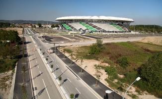 Stadyumun yeni bulvarında işlem tamam