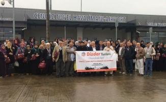 Dizdar Turizm, Umre kafilesini Cengiz Topel'den uğurladı