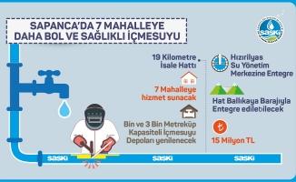 Sapanca'ya 15 milyonluk içmesuyu yatırımı