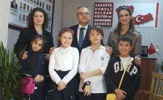 Minik Şahin'ler Rumeli Balkan Derneği'ni ziyaret etti