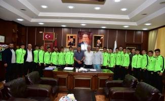 Şampiyon Aziziyespor'dan İspiroğlu'na Ziyaret