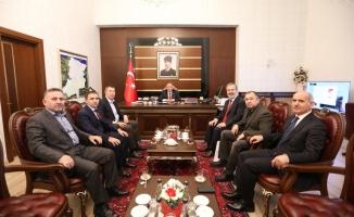 Uluslararası İslami Ticaret Birliği Başkanı Kabaev den Vali Nayir e Ziyaret