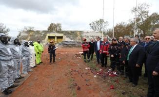 Vali Nayir Arama-Kurtarma Tatbikatını İzledi