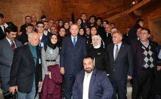 15 Temmuz Milli İrade Derneği Başkan Erdoğan'la bir araya geldi