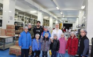 Macera Park öğrencileri üretim tesislerinde