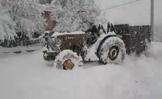 Karasu'da Kar Kalınlığı 60 Santimetreye Ulaştı