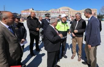 Vali Nayir Sayın Cumhurbaşkanımızın Ziyareti Öncesi Denetlemelerde Bulundu