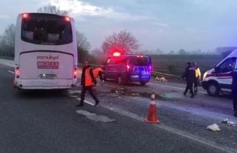 Anadolu Otoyolu'nda Otobüs Kazası 30 Yaralı!