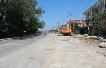 Yazlık Caddesi'nde genişletme çalışmaları başladı
