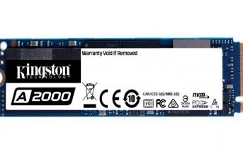 Kingston'dan Ultra Yüksek Performanslı PCIe NVMe SSD: A2000
