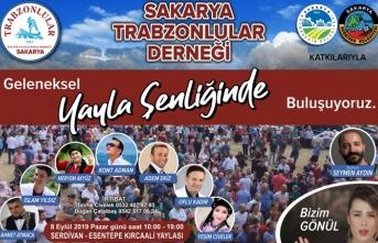 Sakarya Trabzonlular Derneği'ninyayla şenliği pazar günü yapılacak