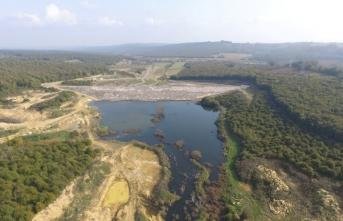 Kaynarca Topçu Göleti'nde su tutulmaya başlandı