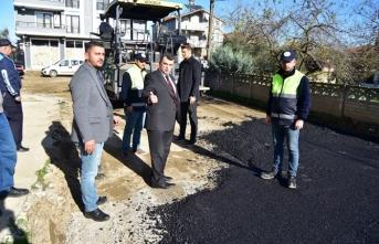 Karasu; asfalt çalışmaları devam ediyor