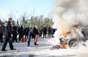 Toplu Taşıma şoförlerine yangın eğitimi