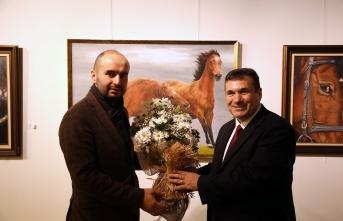 'Atların Rüyası' resim sergisi OSM'de açıldı