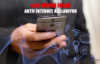 4,54 Milyar insan aktif internet kullanıyor.